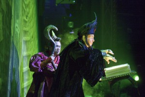 Iago and Jafar casting a spell. Click to enlarge image.